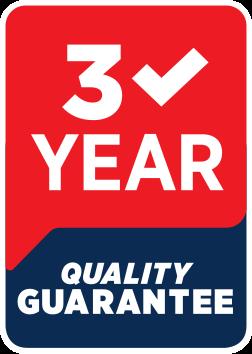 3 Year Quality Guarantee