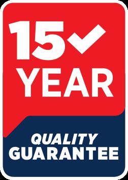 15 Year Quality Guarantee